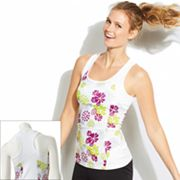 Tek Gear Floral Mesh Paneled Performance Tank