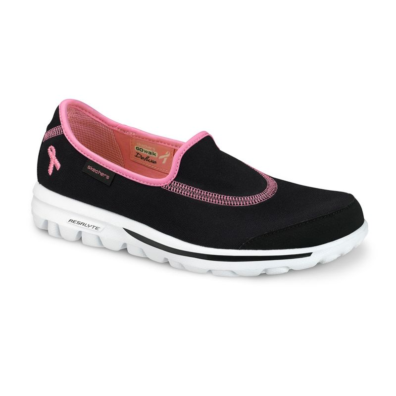 Skechers Green GOwalk Cure Pink Ribbon Walking Shoes - Women
