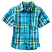 OshKosh B'gosh Plaid Woven Shirt - Boys 4-7x