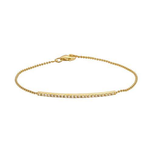 Sophie Miller 14k Gold Over Silver Cubic Zirconia Bar Link Bracelet