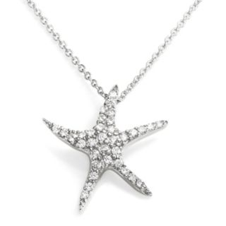Sophie Miller Sterling Silver Cubic Zirconia Starfish Pendant