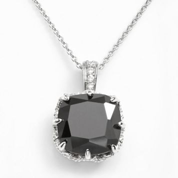 Sophie Miller Sterling Silver Black & White Cubic Zirconia Pendant