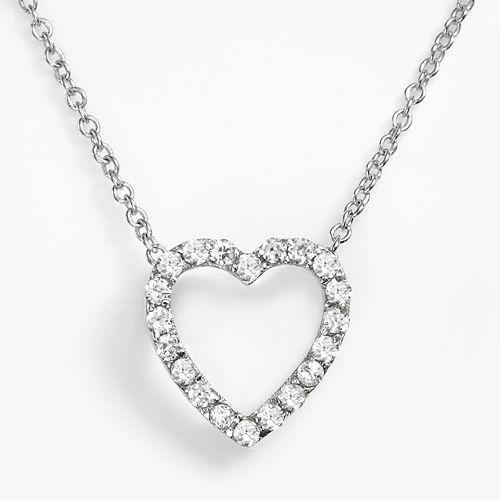 Sophie Miller Sterling Silver Cubic Zirconia Heart Pendant