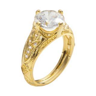 Sophie Miller 14k Gold Over Silver Cubic Zirconia Filigree Ring