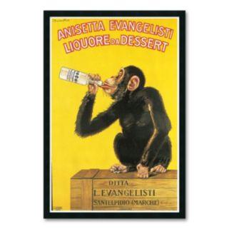 Anisetta Evangelisti Liquore da Dessert, c. 1925 Framed Art Print by Carlo Biscaretti