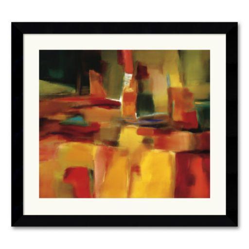 Harmonious Space Framed Art Print by Nancy Ortenstone