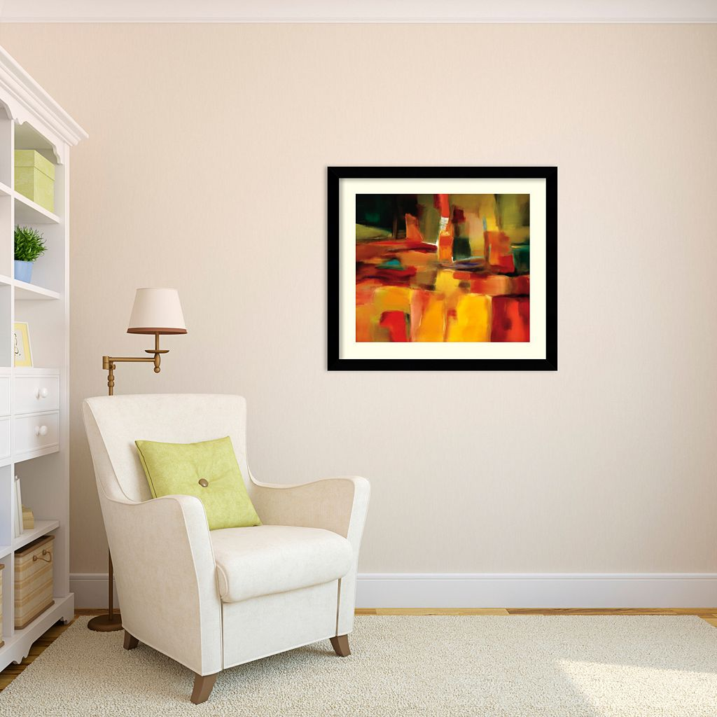 Harmonious Space Framed Art Print by Nancy Ortenstone