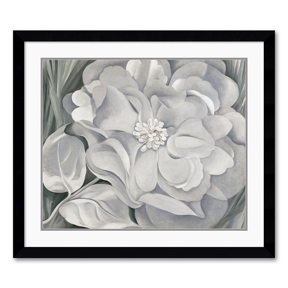 """The White Calico Flower, 1931"" Framed Art Print by Georgia O'Keeffe"