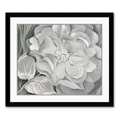 'The White Calico Flower, 1931' Framed Art Print by Georgia O'Keeffe