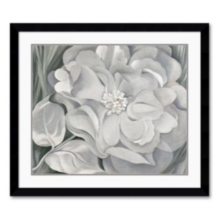 The White Calico Flower, 1931 Framed Art Print by Georgia O'Keeffe