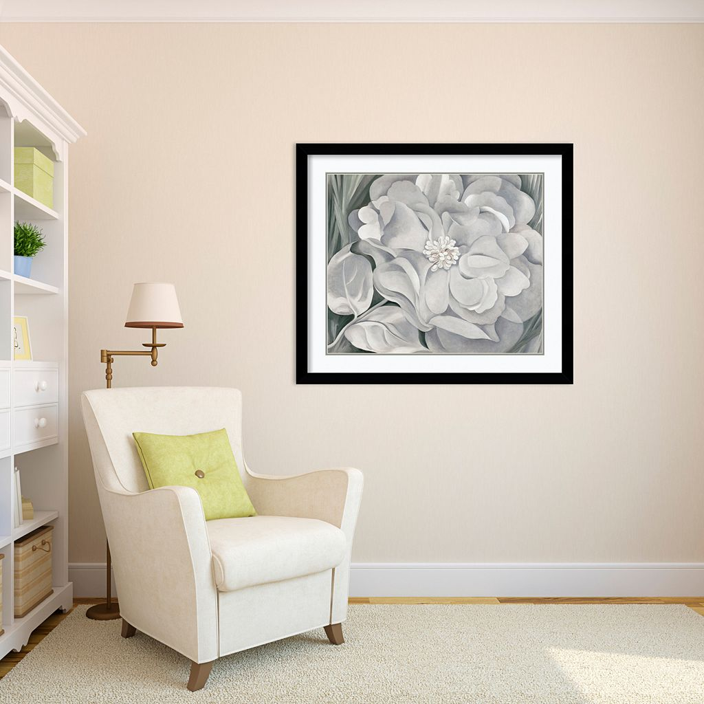 The White Calico Flower, 1931 Framed Art Print by Georgia O'Keeffe