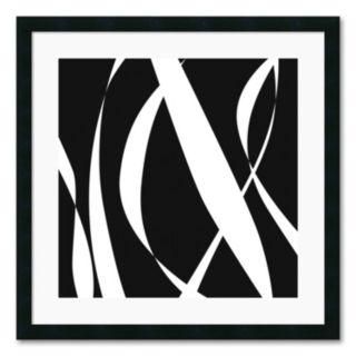 Fistral Nero Blanco III Framed Art Print by Denise Duplock