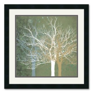 Quiet Forest Framed Art Print by Erin Clark
