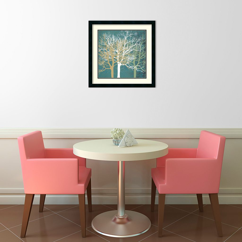 Tranquil Trees Framed Art Print by Erin Clark