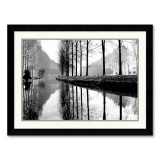 Canal, Normandy Framed Art Print by Bill Philip