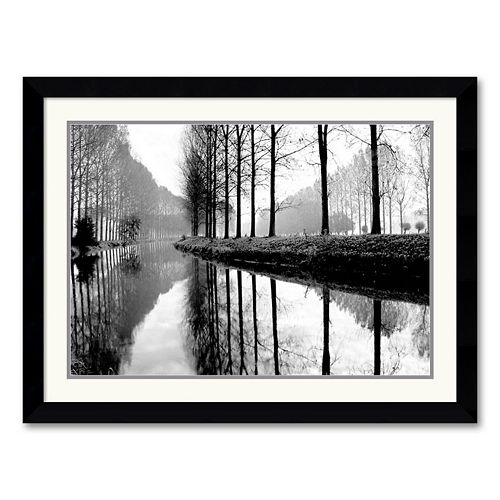 """Canal, Normandy"" Framed Art Print by Bill Philip"