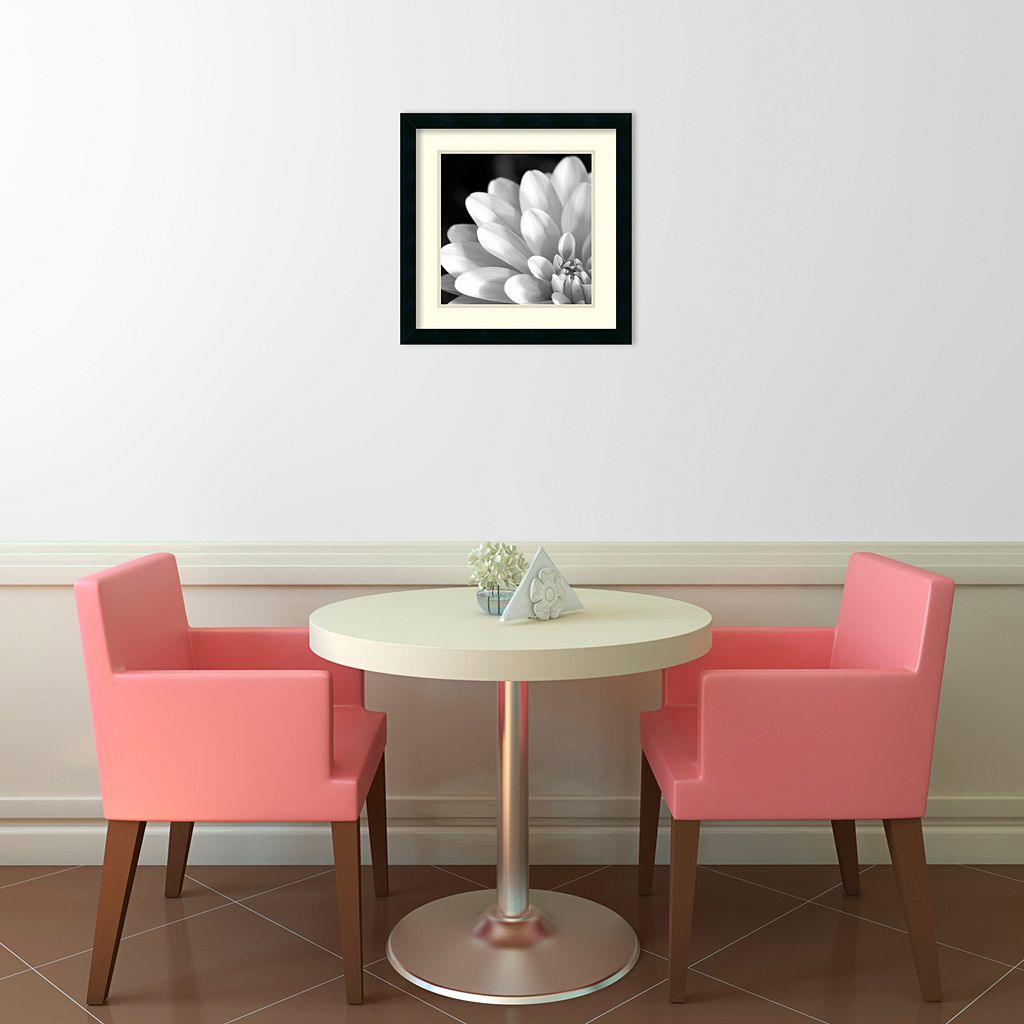Radiating Petals Framed Art Print