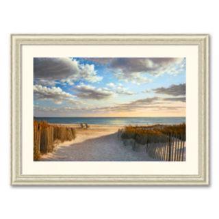 Sunset Beach Framed Art Print by Daniel Pollera