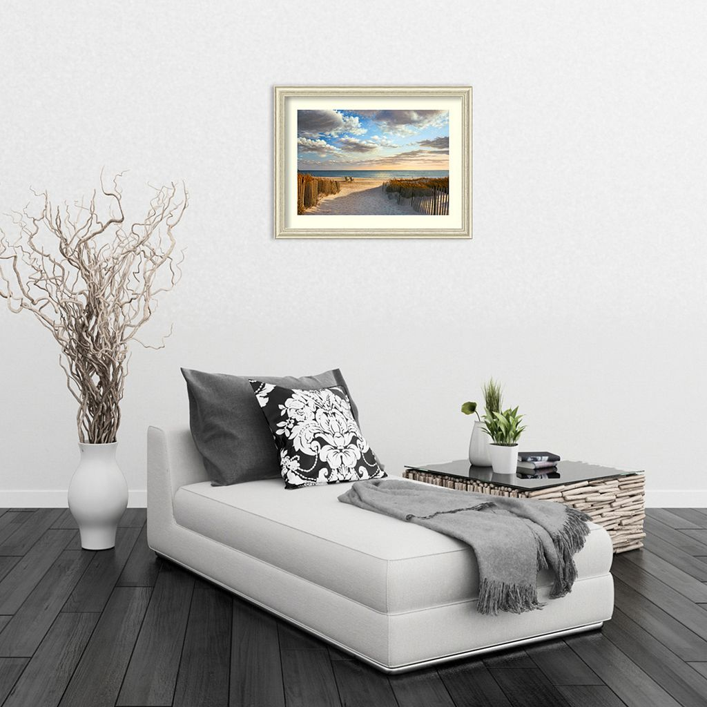 Sunset Beach Framed Art Print by Daniel Pollera