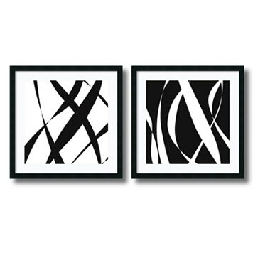 2-pc. Fistral Nero Blanco Framed Wall Art Set by Denise Duplock
