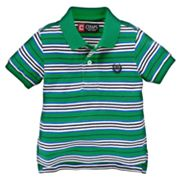 Chaps Striped Pique Polo - Baby