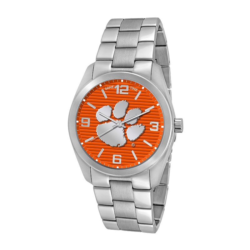 Game Time Elite Series Clemson Tigers Stainless Steel Watch - COL-ELI-CLE - Men