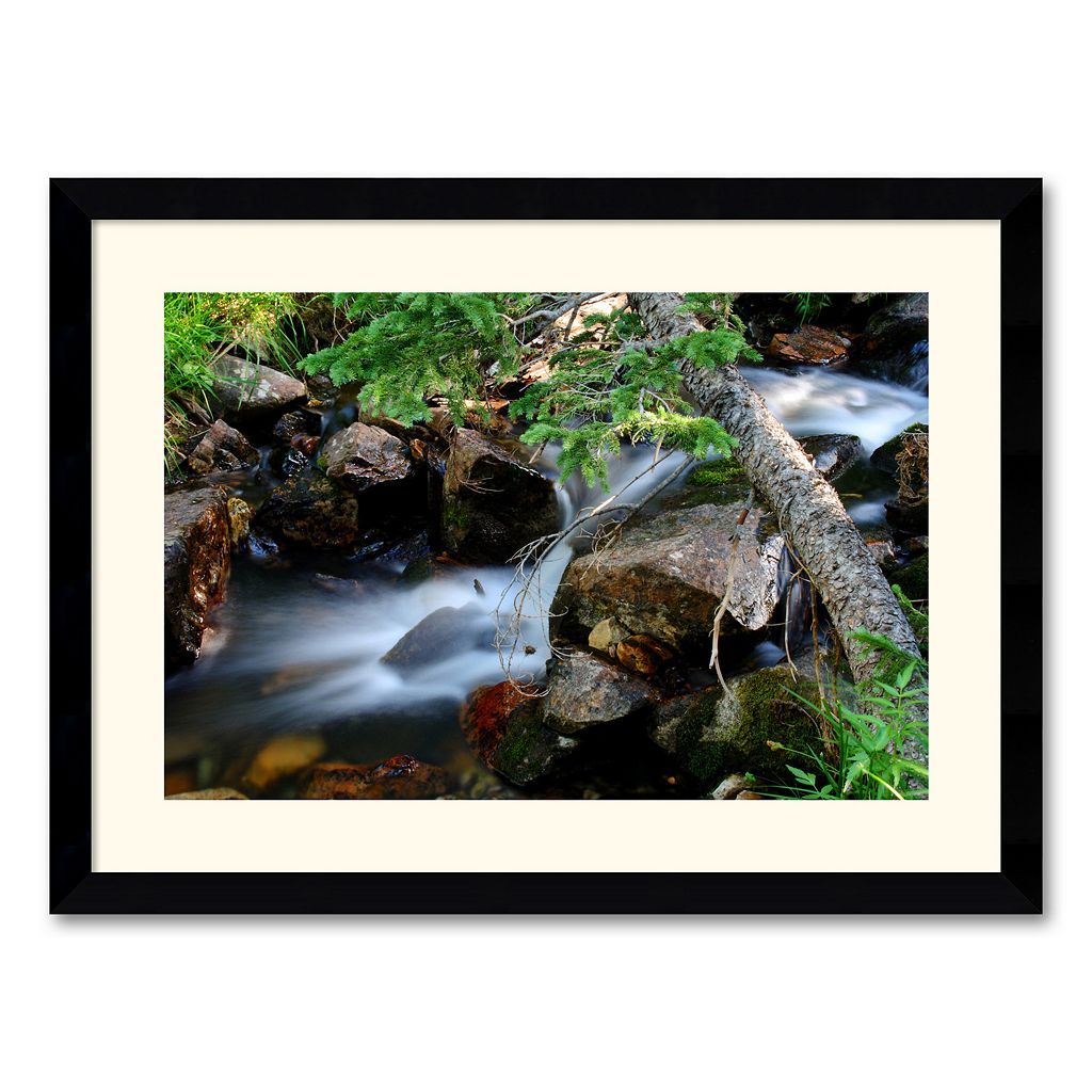 ''Mountain Stream'' Framed Wall Art by Andy Magee