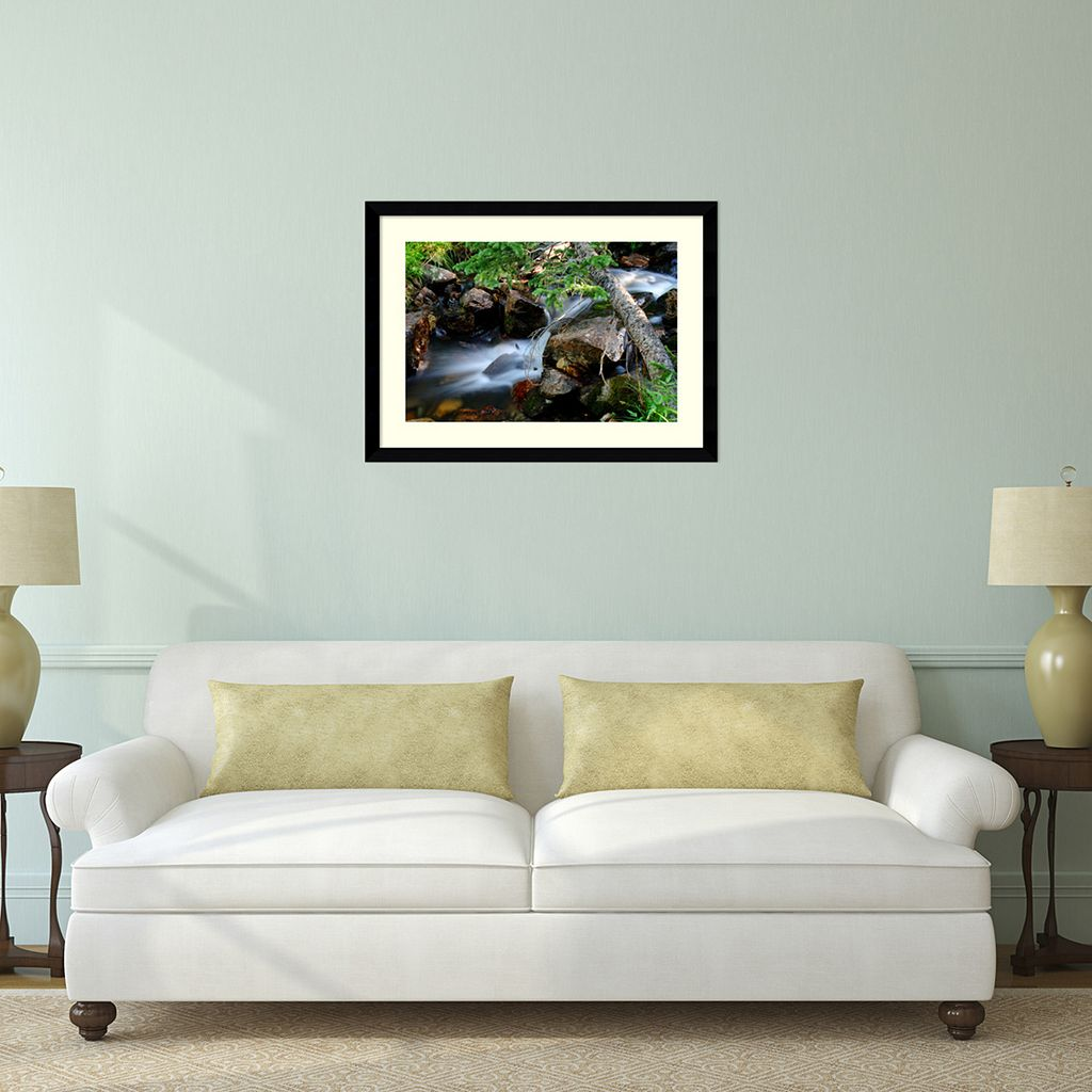 Mountain Stream Framed Wall Art by Andy Magee