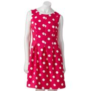 AB Studio Polka-Dot Sheath Dress - Petite