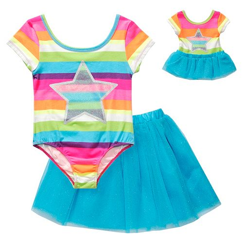 d14e08331c8 Dollie   Me Star Skirted Dance Leotard - Girls