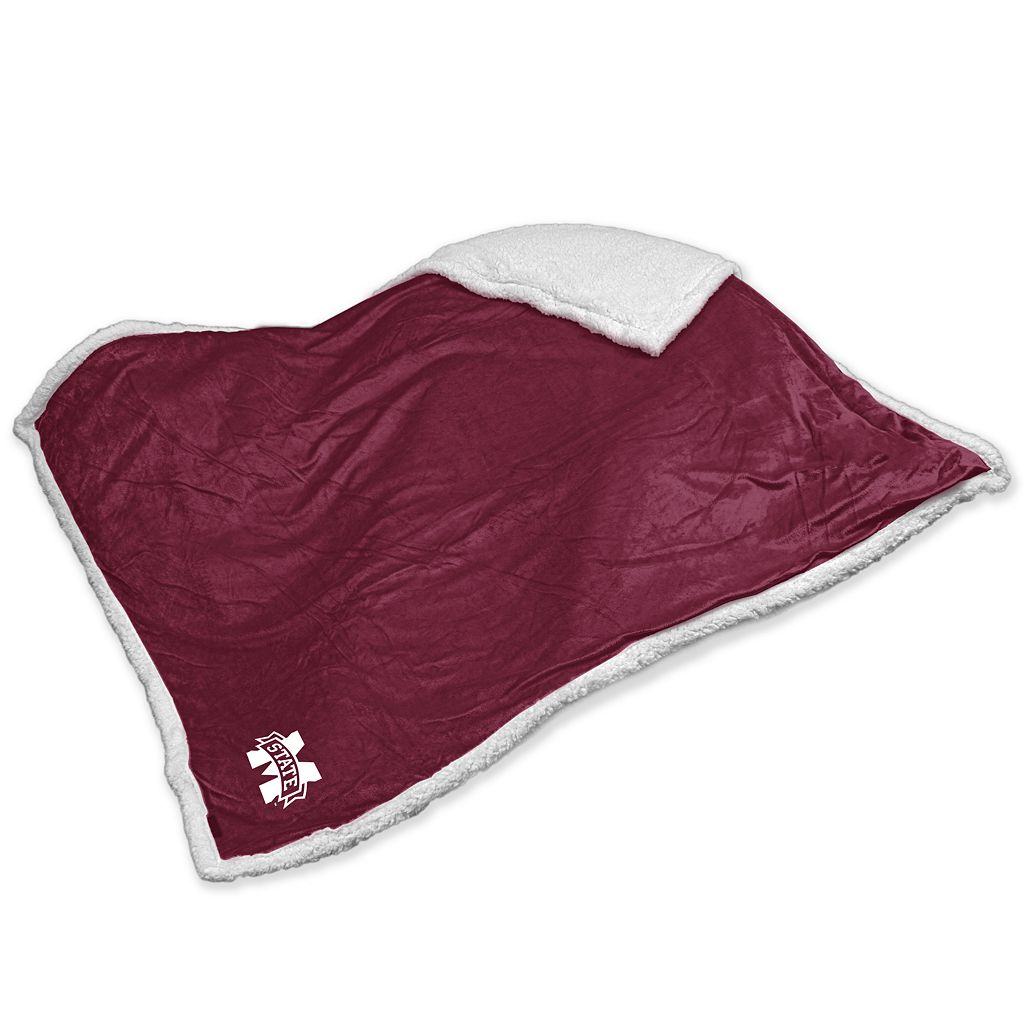 Mississippi State Bulldogs Sherpa Blanket