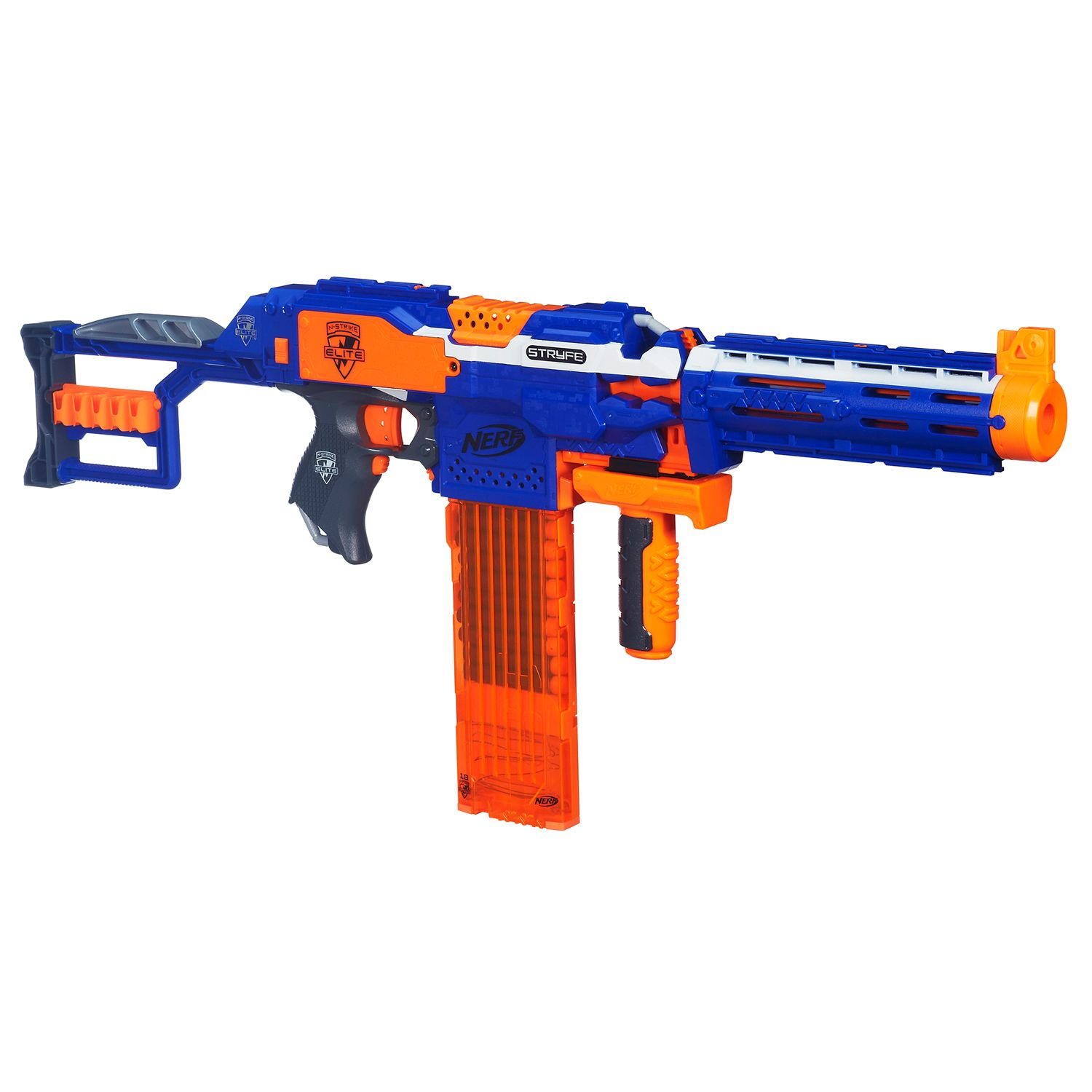 Right now Kohl s has the Nerf N Strike Elite Stryfe CS 18 Mission Kit by Hasbro marked down to $24 99 You can use coupon code BLACKFRI to take off and