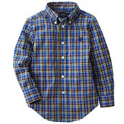 Chaps Mini Plaid Woven Shirt - Toddler