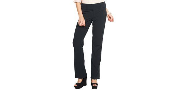 Juniors Candie S 174 Marilyn Side Tab Bootcut Dress Pants