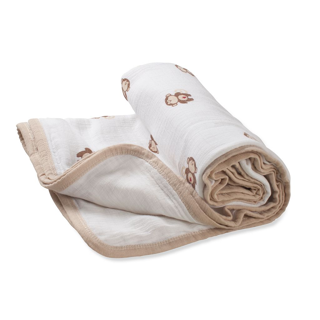 aden + anais Monkey Muslin Stroller Blanket