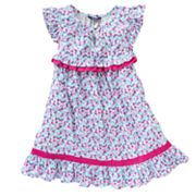 Chaps Floral Ruffled Dress - Toddler
