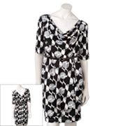 corey p Circle Drapeneck Dress