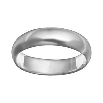 Sterling Silver Polished Plain Band Ring