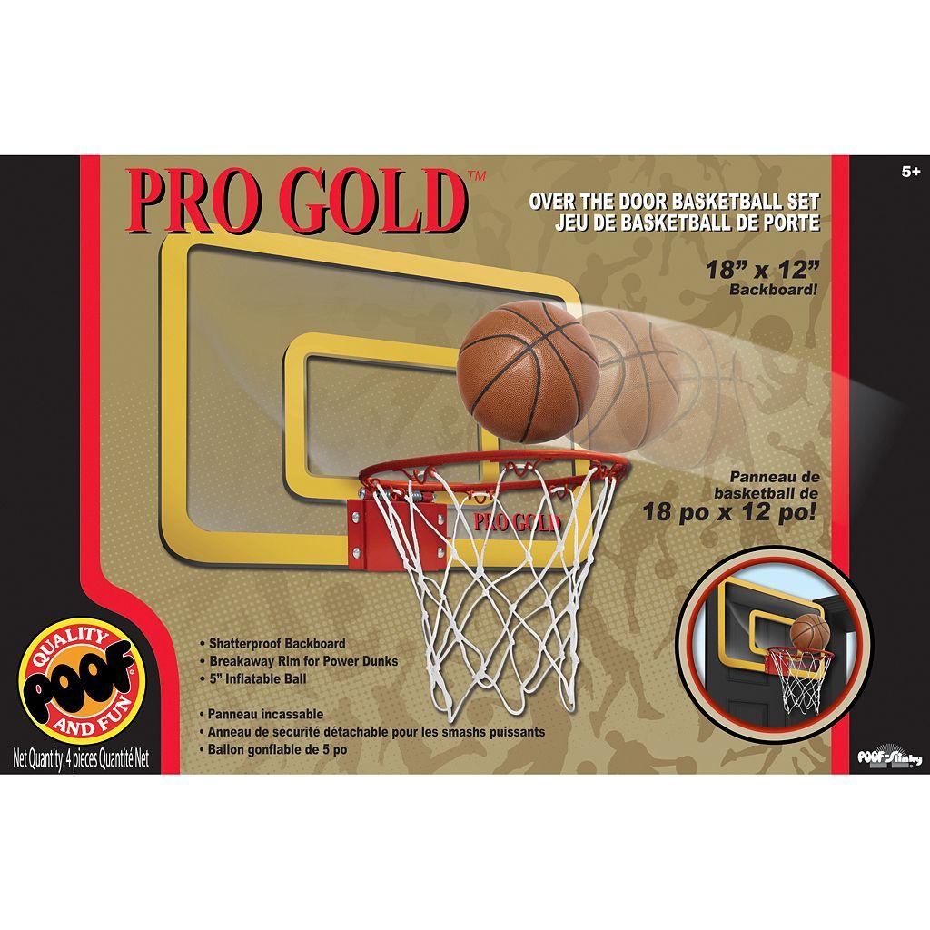 POOF Pro Gold Over The Door Basketball Hoop Set