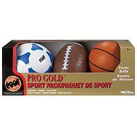 POOF Pro Gold Foam Sports Balls Set