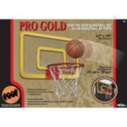 POOF Pro Gold Over The Door Basketball Hoop Set
