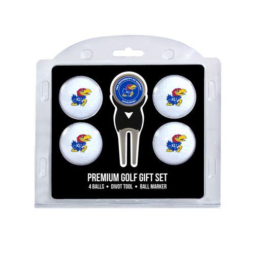 Kansas Jayhawks 6-Piece Golf Gift Set
