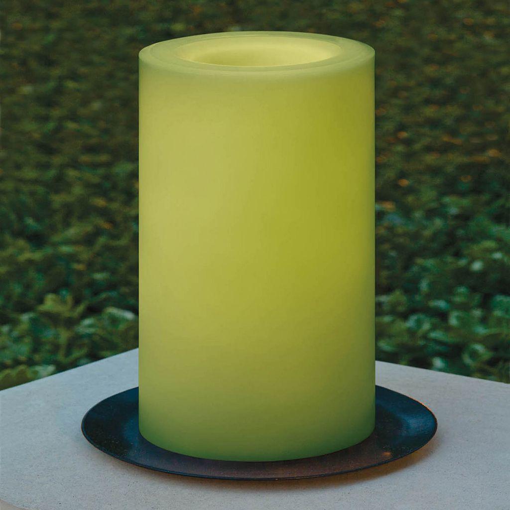 Inglow 3'' x 5'' Flameless LED Outdoor Pillar Candle