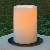 Inglow 3'' x 5'' Flameless LED Outdoor Pillar Candle