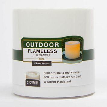 Inglow 4'' x 4'' Flameless LED Pillar Candle