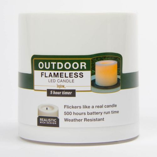 Inglow 4 x 4 Flameless LED Pillar Candle