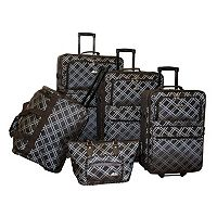 American Flyer Pemberly Buckles 5 pc Wheeled Luggage Set