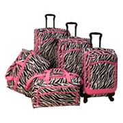 American Flyer Luggage, Animal Print 5-pc. Spinner Luggage Set