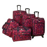 American Flyer Luggage, Red Rose 5-pc. Spinner Luggage Set