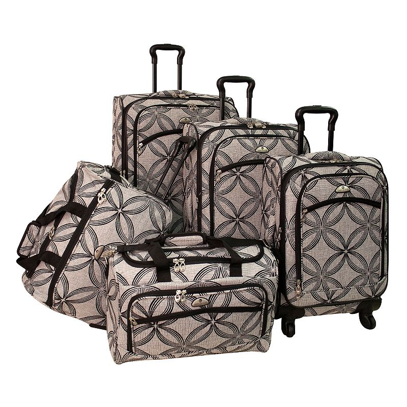 American Flyer Luggage, Clover 5-pc. Spinner Luggage Set, Grey